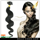 Prebonded keratin fusion 100 virgin indian u tip hair extensions wholesale