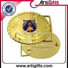 Customize logo metal gold belt buckle wholesaler