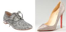 pu glitter leather for shoe upper