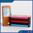 Funky mobile phone,leather flip minion case for samsung galaxy note 2