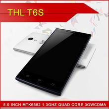 "Original THL T6S Cell Phones MTK6582M Quad Core Android 4.4 Smartphone 5.0"" IPS 1GB RAM 8GB ROM GPS OTA 5.0MP Mobile in stock!!"