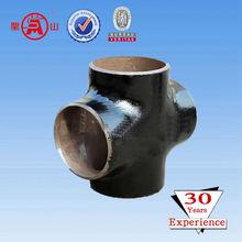 carbon steel pipe cross equal