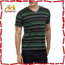 2015 new arrival polyester custom bulk v-neck t shirt/fashion custom bulk v-neck t shirt for men