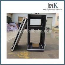 RK custom flightcase, mixer and amp rack case, with side table, 16U,4U