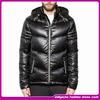 fashion breathable waterproof shiny down coat men's black winter clothes plus size