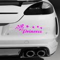 Princesa, Calidad de vinilo, Vinilo etiqueta engomada del coche / ( rosa )