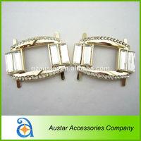 Fashion rhinestone with gold metal ladies sandal buckle jewelry