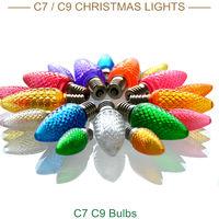 Clear christmas village led lights c9