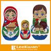 Kinds of Cute Russian Doll Embroidery Design Cartoon Character Embroidery Patch