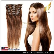 Cheap Top Quality Natural Wave malaysian Hair Clip In Human hair extension