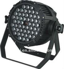 Ip65 a prueba de agua RGB 54 * 3 W LED de iluminación Par portátil