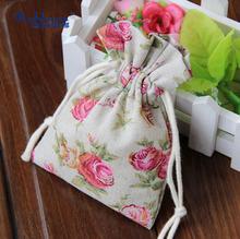 2014 Fashion drawstring cotton and canvas eco shopping bag