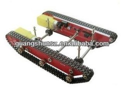 Patent DD1-1 caterpillar vehicles Tank chassis smart car model/send floor with the motor speed and motor drive
