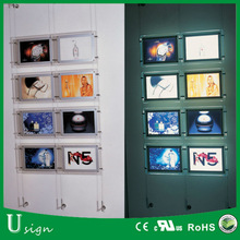 hanging display acrylic LED light picture frame