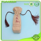Supplier single wine bottle packing jute bags facotry from shenzhen china
