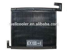high quality copper EX100-1 hydraulic oil cooler for Hitachi excavator,radiator,intermediate cooler