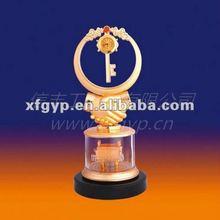 Beautiful Golden Resin Friend Sovenir Trophy Cup, Key,Clock and Friendship