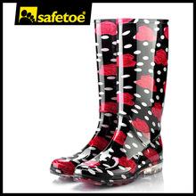 Clear black sole rain boots, camo rain boots for women, boy cheap rain boots W-6040D