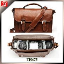 Top grain leather hidden camera bag custom leather dslr camera bag