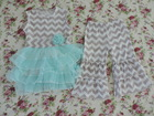 persnickety fall outfit gray chevron outfit boutique fall clothing set tulle dress and chevron pant set baby clothes