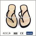 Nuovo prezzo basso in vendita a caldo nero naturale spiaggia flip- flop