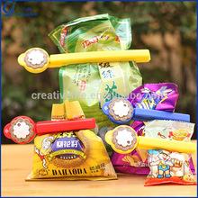 3pcs Flower Plastic Food Bag Sealer Sealing Clip with Date