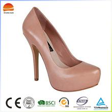 Pure Color High Quality High Heel Dress Shoes Fashion Platform Heels