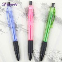 Simple plastic ball pen retractable promotional cute pen