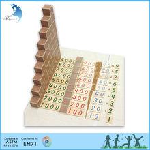 Mathematic Educational Montessori Material EN71 Wooden Toys Puzzle