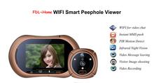 FDL-i3 Android&IOS smart phone two way speaking wifi door viewer,peephole door eye,villa video door phone system