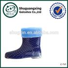 fashion winter warm rain boots for kids italian rain boots winter/C-705