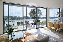 Heavy duty thermal break aluminium profile large sliding glass doors