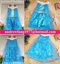 children authentic frozen princess Elsa dress costume MAC-0907