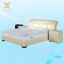 Dongguan King Size Bedroom Sets White Modern Leather Bed