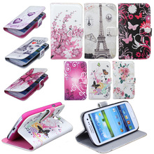 Flower Butterfly Flip USA UK Flag Wallet Leather Case For Samsung Galaxy S4 i9500/S3 i9300