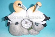 Home Decor resin/polystone/polyresin bird statue with clock