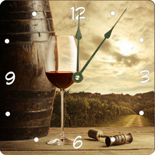 Vintage Red wine glass Design 10 Wall Clock