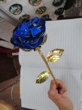 Valentine's Day gifts, wedding, hot sale 24k golden crystal rose for wholesale