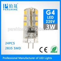 Compact residential 220v 3watt led g4 auto lamp