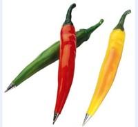 Shenzhen Hot Selling Pepper Shape Magnet Plastic Ballpoint Pen