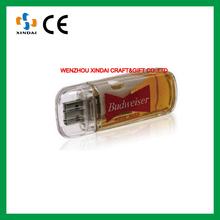 Brand beer flash disk, plastic usb flash drive blank