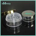 Metalizaion/electrochapa plata y de oro cosméticos frasco polvo suelto
