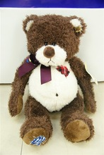 LYJD-2190 large stuffed soft toy plush brown animal bear