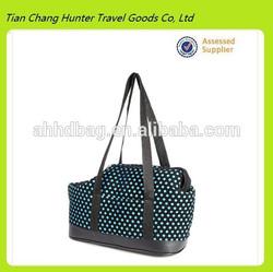 Polka Dots Print Pet Bag Portable Dog Cat Shoulder Handbag Travel Bag Carrier