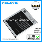 mobile battery for Samsung Galaxy S4 SIV i9500 galaxy s4 B600BC