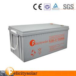 UPS Usage portable and 12v Voltage 12v200ah AGM gel battery for power station