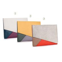 Genuine leather block shockproof laptop bag