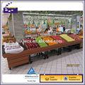 Supermercado de frutas y vegetales pantalla estante