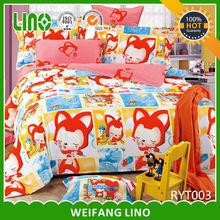 Popular romantic duvet cover set/reactive print bed sheet/queen size comforter
