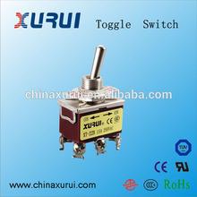 6 pin toggle switch / ul approved machinery toggle switch / spring return on off on toggle switch 3 position